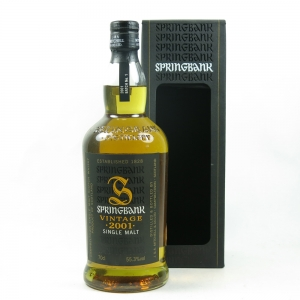 Springbank Vintage 2001 Batch No.1 front