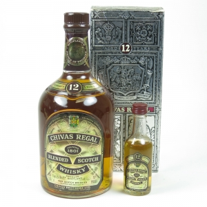 Chivas 12 Year Old 1970s and Miniature