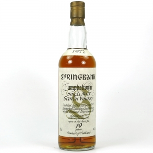 Springbank 1972 Front