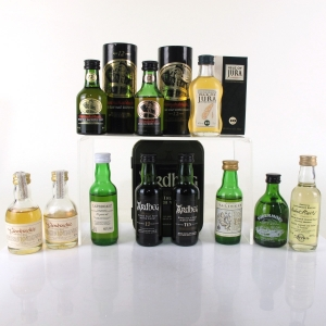 Miscellaneous Island, Islay and Lowland Miniature selection 11 x 5cl