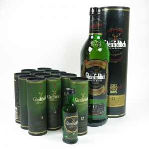 Glenfiddich 12 Year Old 70cl and 12x 5cl