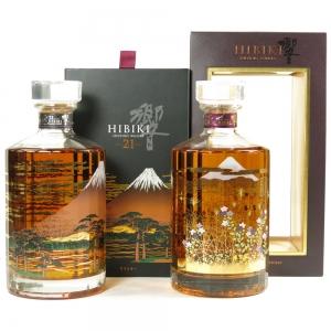 Hibiki 21 Year Old Fuji 1st Edition and 17 Year Old Mount Fuji