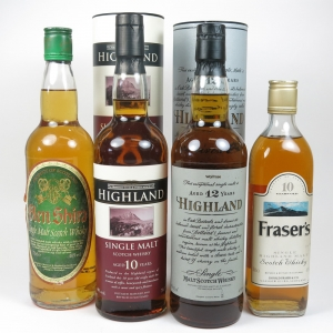 Miscellaneous Highland Single Malts 1x 50cl & 3x 70cl