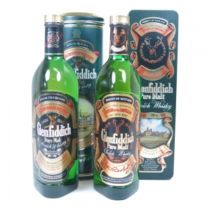 Glenfiddich Pure Malt 1980s 2x 75clavailable to buy or sell at Whisky Auctioneer online scotch whisky auctions.