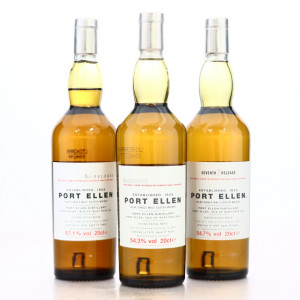 Port Ellen 5th, 6th & 7th Release 3 x 20cl