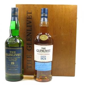 Glenlivet 18 Year Old & Founder's Reserve 2 x 70cl