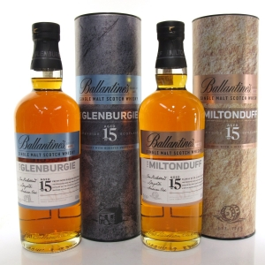 Glenburgie and Miltonduff 15 Year Old / Ballantine's Series 001 and 002