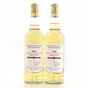 Port Charlotte 2008 Private Cask 3 Year Old #3243 2 x 70cl