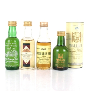 Miscellaneous Grain, Malt and Liqueur Selection 4 x 5cl / Including North Of Scotland 1964