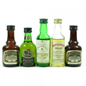 Miscellaneous Islay Miniature Selection 5 x 5cl