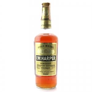 I.W. Harper Gold Medal Bottled in Bond Kentucky Bourbon 1970s / Stock Import