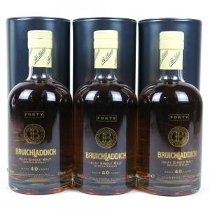 Bruichladdich 40 Year Old 3 x 70cl / Full Case
