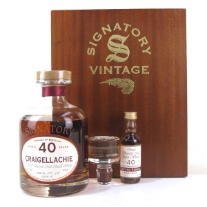 Craigellachie 1962 Signatory Vintage 40 Year Old Decanter / Including 5cl