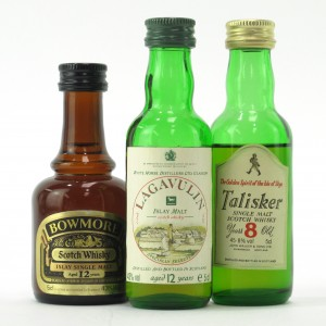 Island Miniature Selection x 3 / including Lagavulin 12 Year Old