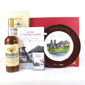 Strathisla 35 Year Old Bicentenary / Including Spode Plate and Bag