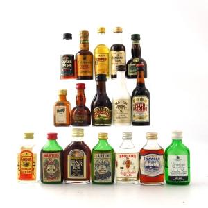Miscellaneous Spirit & Liqueur Miniature Selection 17 x 5cl