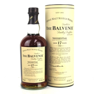 Balvenie 17 Year Old Sherry Oak First Edition 2007 Release 75cl / US Import