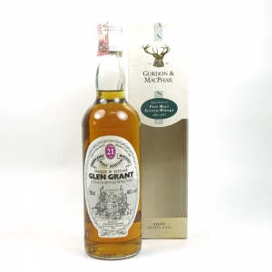 Glen Grant 21 Year Old Gordon and Macphail Front