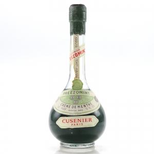 Cusenier Freezomint Creme de Menthe Half Bottle 1960s