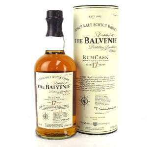 Balvenie 17 Year Old Rum Cask / First Edition 75cl US Import