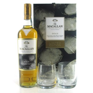 Macallan Gold Limited Edition Gift Pack / with 2 x Glasses