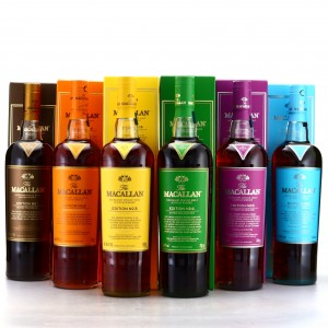 Macallan Edition No.1-6 Collection 6 x 70cl