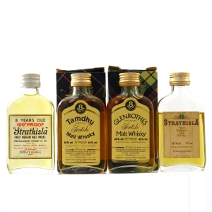 Gordon And MacPhail Speyside 1970s Miniature Selection x 4