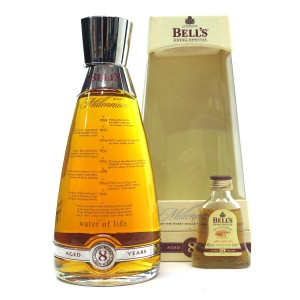 Bell's 8 Year Old Millennium Decanter / with Miniature 5cl