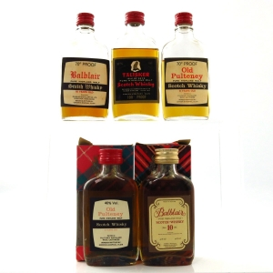 Gordon And MacPhail Speyside 1970/80s Miniature Selection x 5