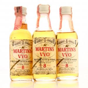 Martin's V.V.O. 8 Year Old Minaiture x 3 1960s / US Import