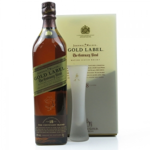 Johnnie Walker Gold Label Centenary Blend 18 Year Old Gift Pack / Including Branded Glass