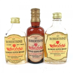 Robertson's Yellow Label Blended Whisky circa 1950s/60s / 3 x Miniature