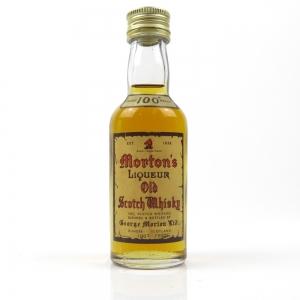 Morton's Liqueur 100 Proof Old Scotch Whisky Miniature 1960s