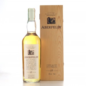 Aberfeldy 15 Year Old Flora and Fauna White Cap / Wooden Box
