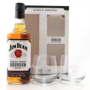 Jim Beam Kentucky Straight Bourbon Gift Pack / including Glasses