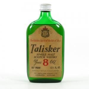Talisker 8 Year Old 13 1/3 Fl Oz 1970s