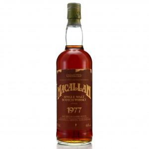 Macallan 1977 Samaroli Sherry Wood / Curved Distillery Label
