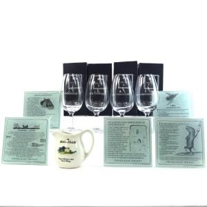 Macallan Glasses and Place Mats x 4 & Macallan Water Jug