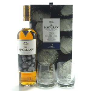 Macallan 12 Year Old Double Cask Limited Edition Gift Pack / including 2 x Glasses