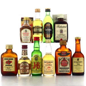 Whisky Miniatures x 10 Including Four Roses
