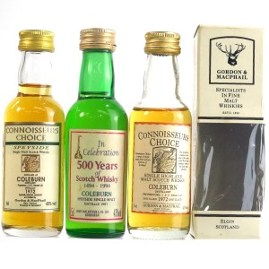 Coleburn Miniature Selection 3 x 5cl