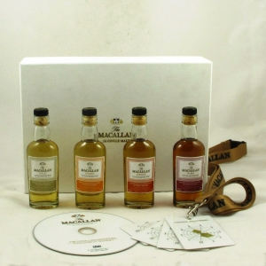 Macallan 1824 Sample Pack 4 x 5cl (Including Tasting Cards) Front