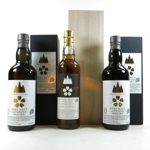 Yamazakura 15 Year Old Pure Malt 2 x 70cl and Cask Strength Reserve 35cl