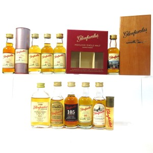 Glenfarclas Miniature Selection x 11 / includes 40 year Old