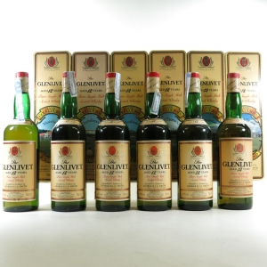 Glenlivet 12 Year Old Golf Course Tin Collection 6 x 70cl