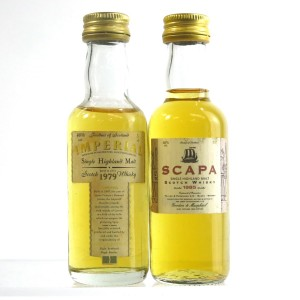 Imperial 1979 & Scapa 1985 Gordon and MacPhail Miniatures 2 x 5cl