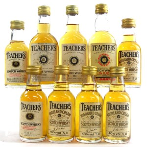 Teacher's Highland Cream Miniatures x 9