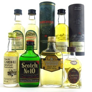 Miscellaneous Whisky Miniatures x 7 / includes Tamnavulin 1970s