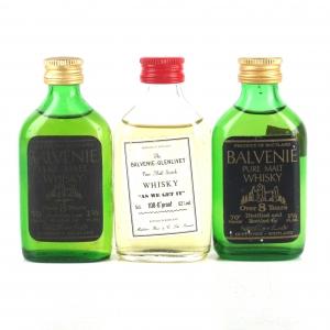 Balvenie Miniatures x 3 1970s/80s