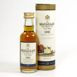 Macallan 1981 18 Year Old Miniature 5cl